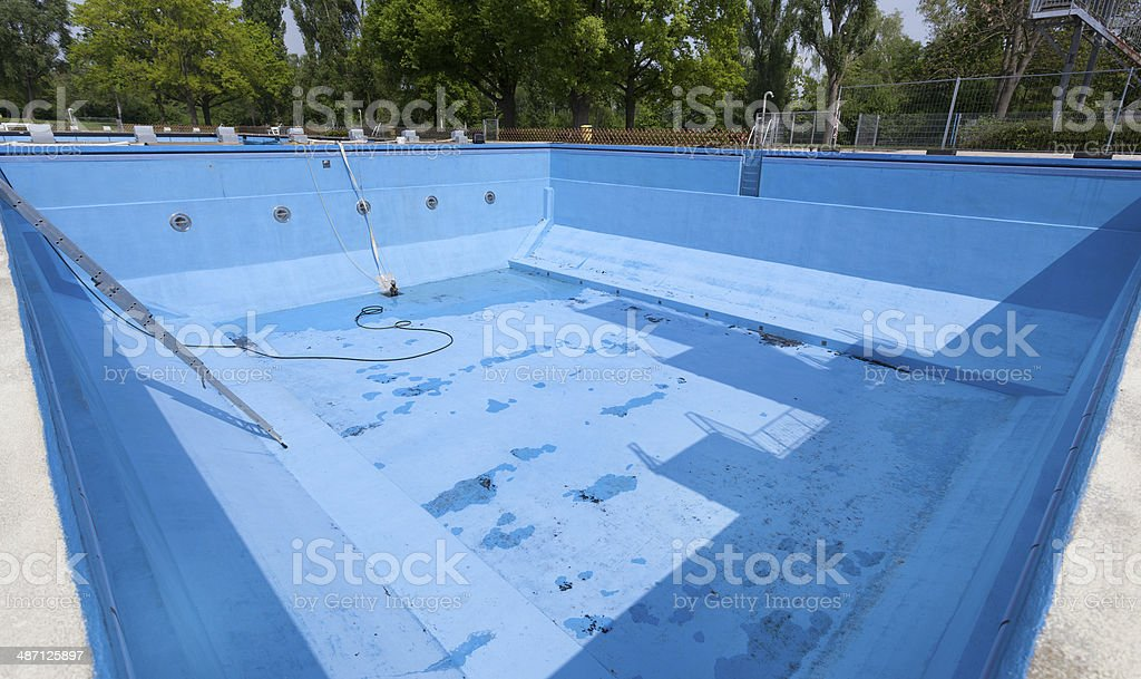 Drained swimming pool royalty-free stock photo