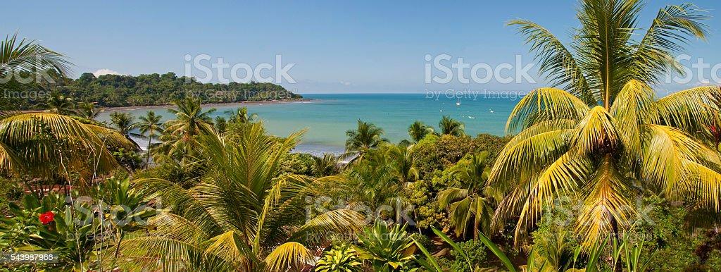Drake Bay panorama stock photo