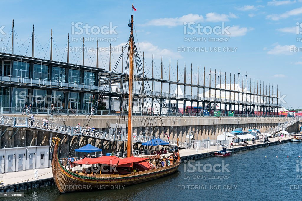 Draken Harald Harfagre in the Old Port stock photo