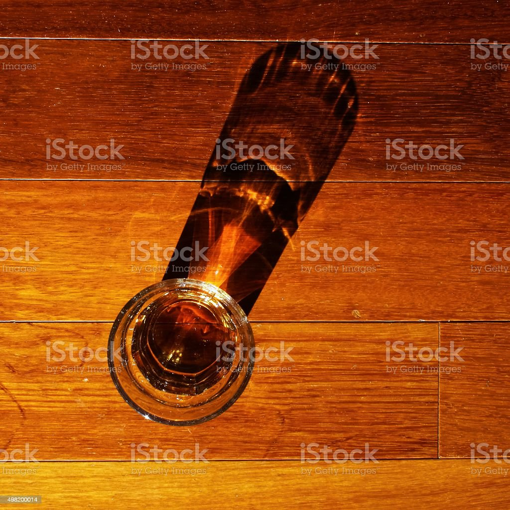 Dram of whiskey stock photo