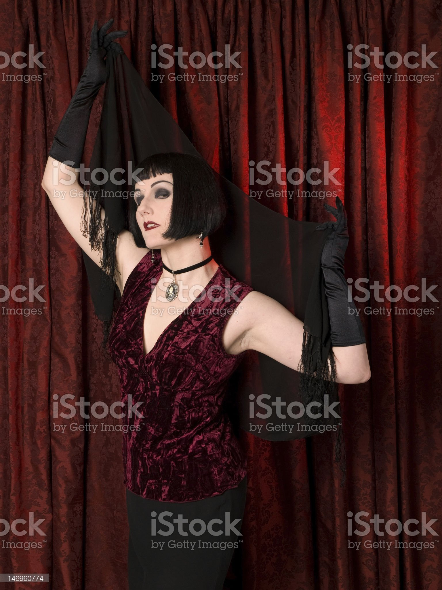Drama Queen Donning Shawl royalty-free stock photo