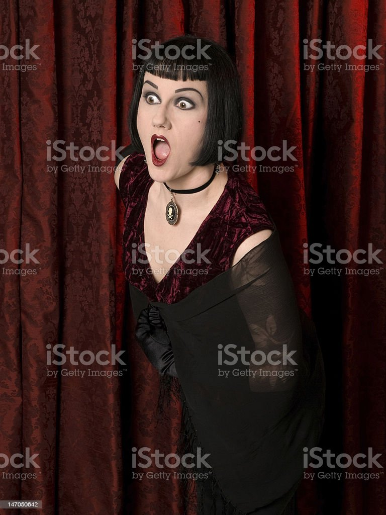 Drama Queen - Shocked stock photo