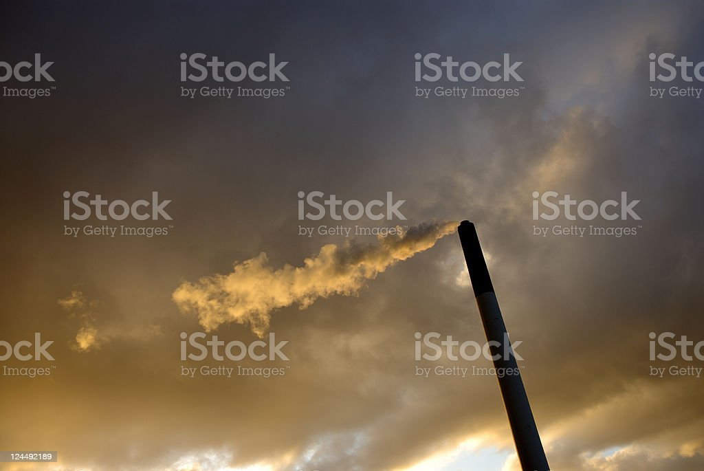 Dramatic Air Pollution royalty-free stock photo