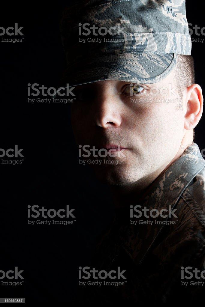 Dramatic Airman royalty-free stock photo