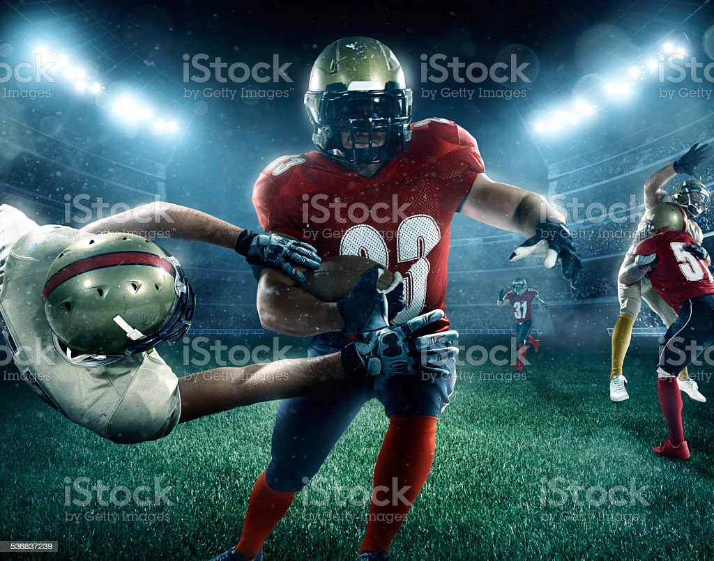 Dramatic american football stock photo