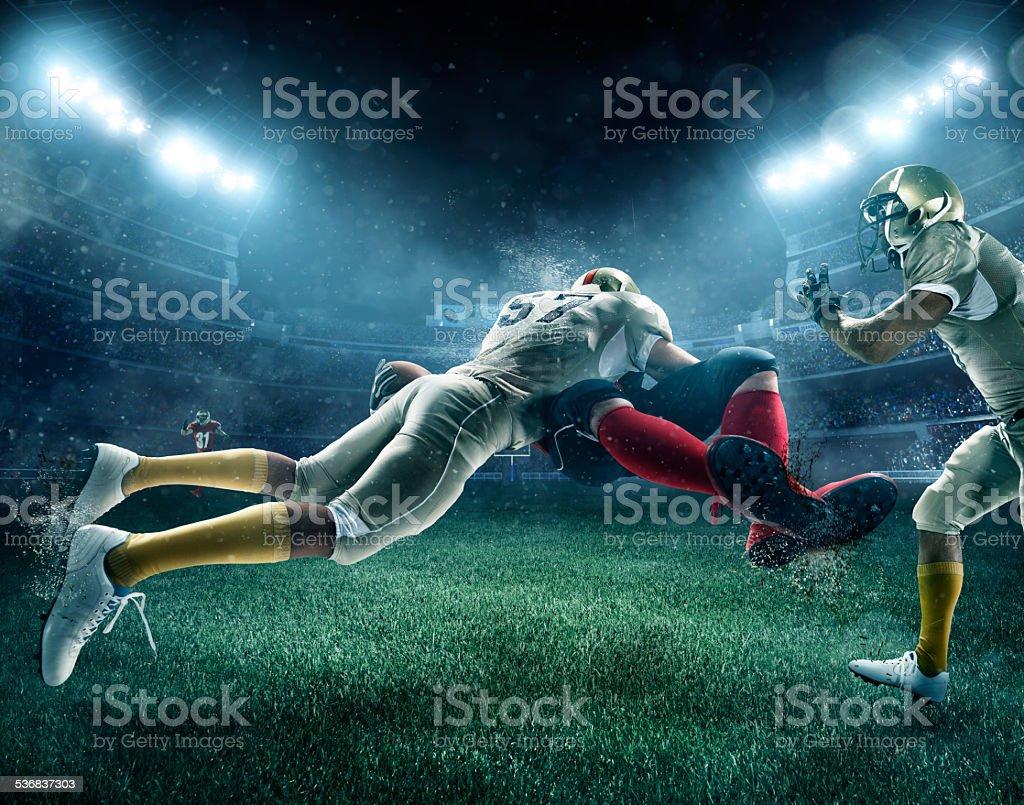 Dramatic american football stock photo