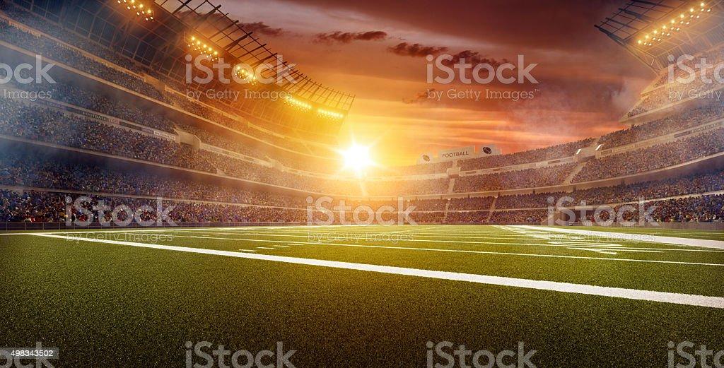 Dramatic american football stadium stock photo