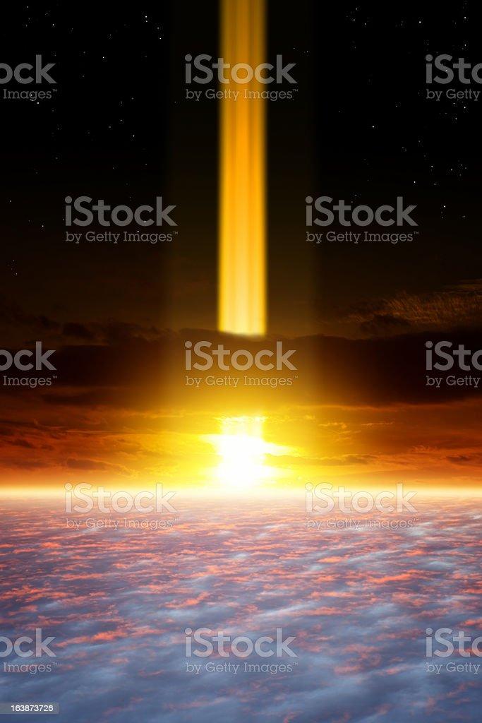 Dramatic apocalyptic background royalty-free stock photo