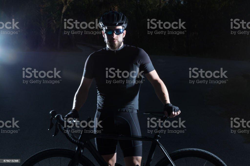 Dramatic athlete stock photo