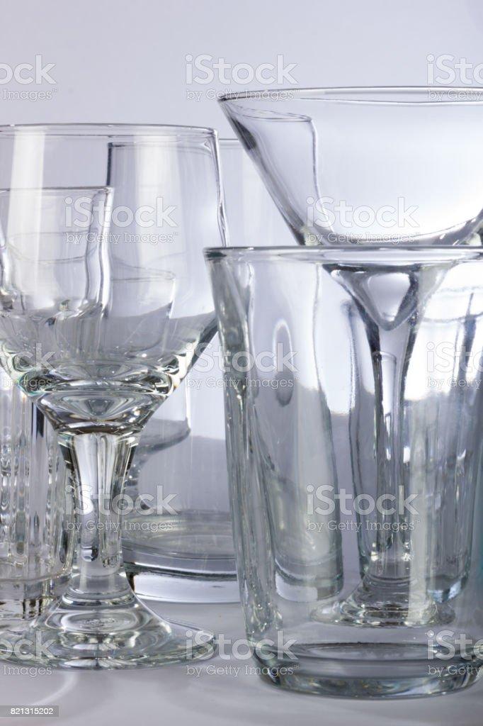 Dramatic Bar Glassware stock photo