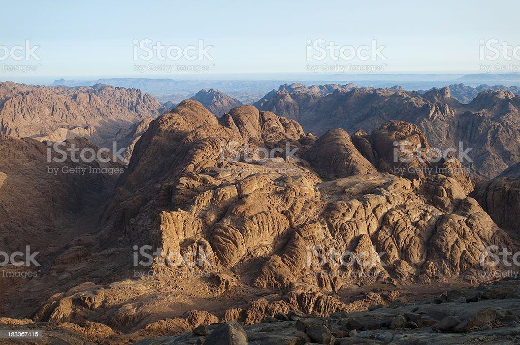 Dramatic barren view from Mount Sinai stock photo