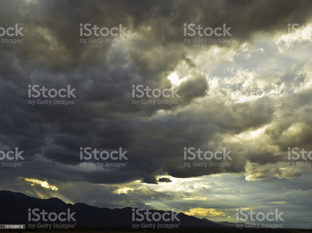 Dramatic Beautiful Sky stock photo