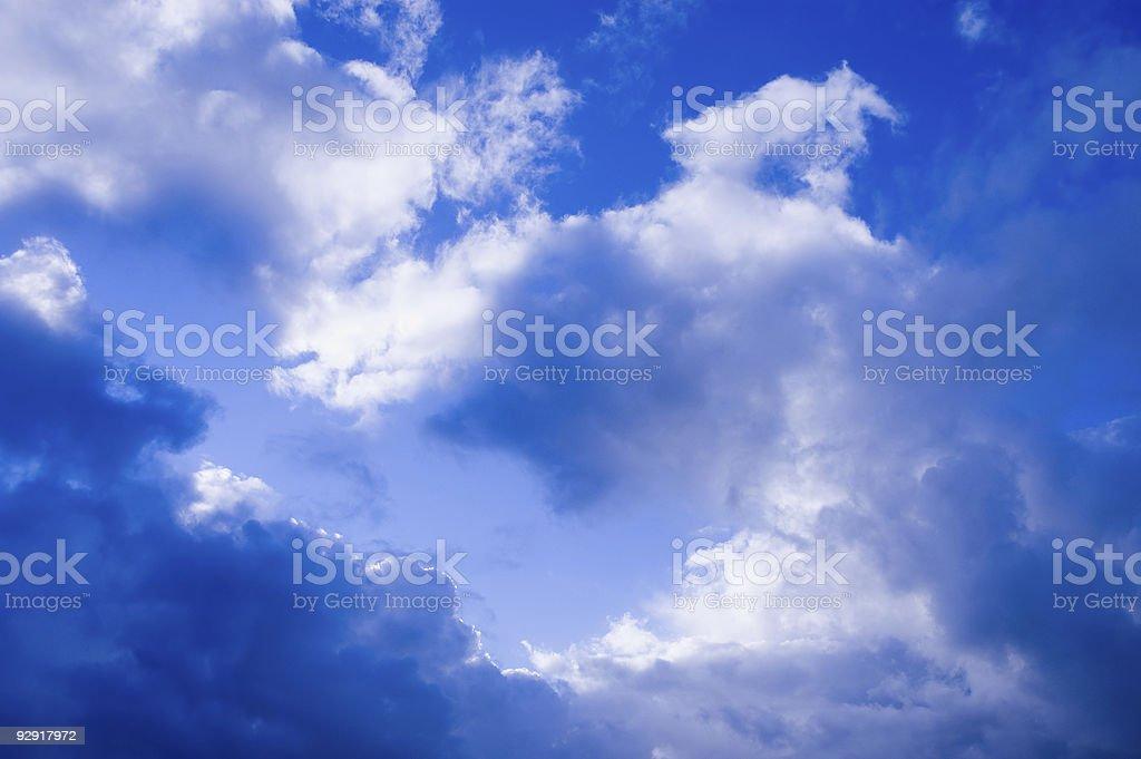 Dramatic Blue Sky royalty-free stock photo