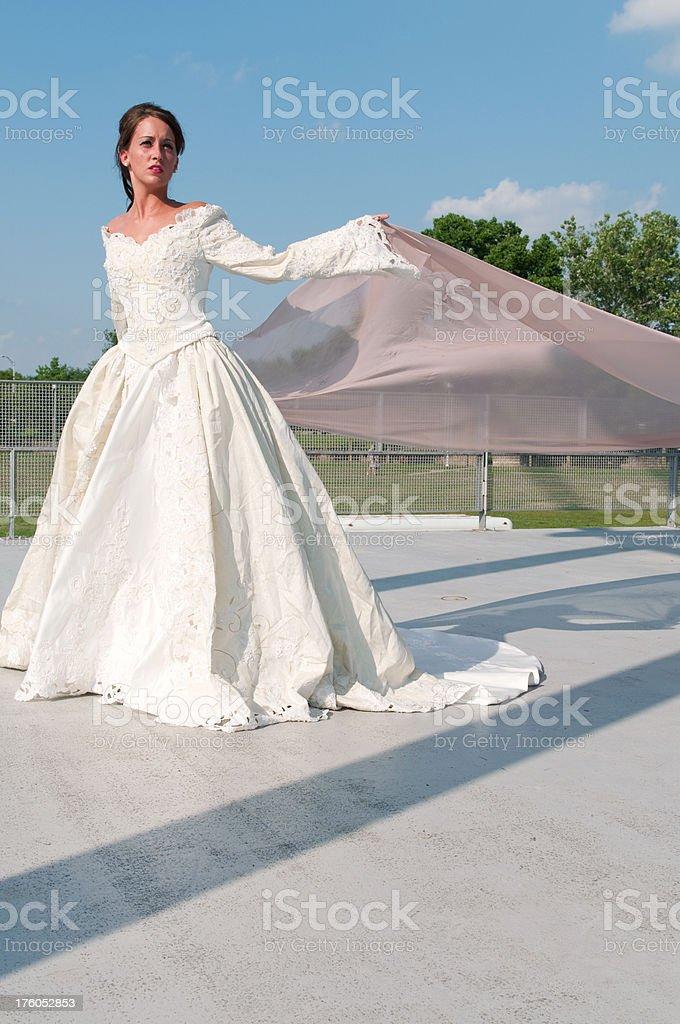 Dramatic Bridal Portrait royalty-free stock photo