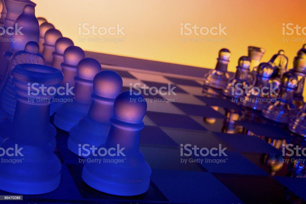 Dramatic Chess stock photo