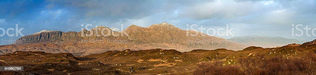 Dramatic cliffs of Quinag Scotland royalty-free stock photo