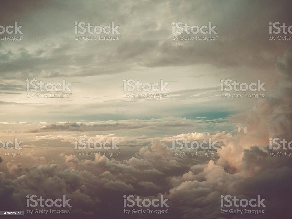 Dramatic Cloud with Sunshine stock photo