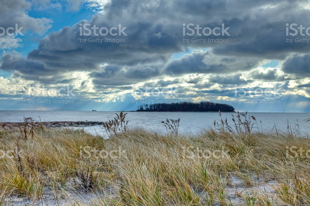 Dramatic Clouds Over Charles stock photo