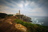 Dramatic clouds over the Cabo Mayor lighthouse, Santander, Spain