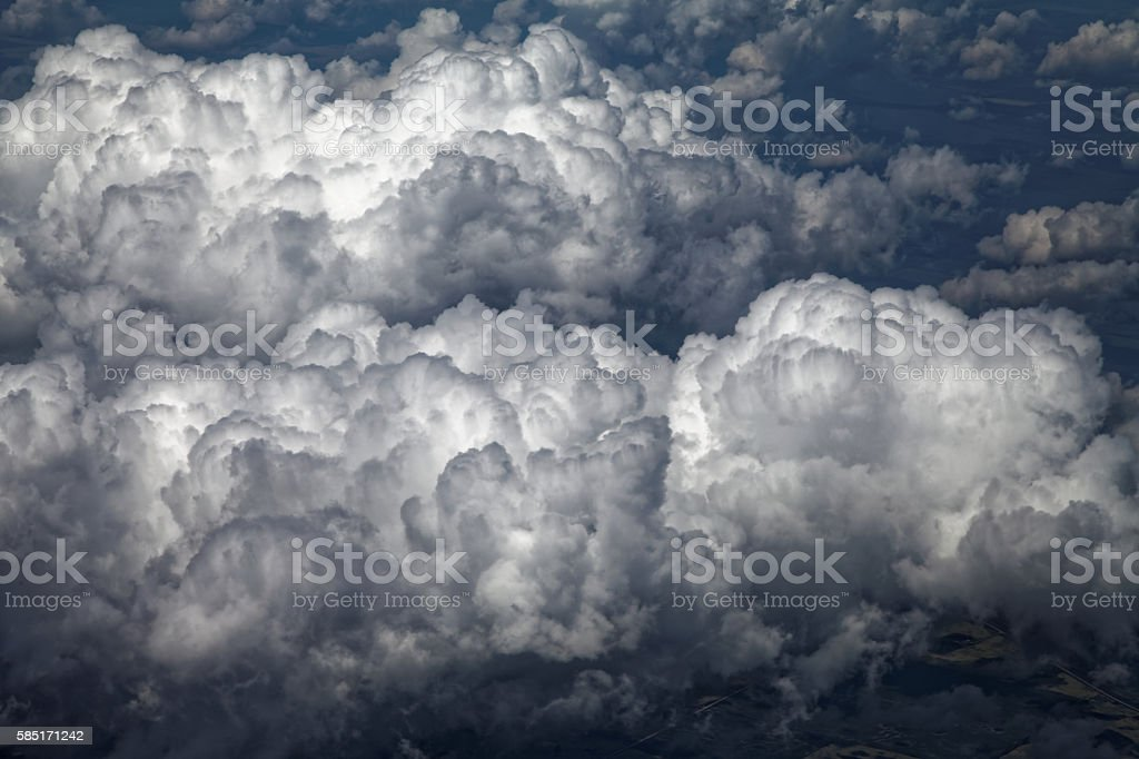 Dramatic Cloudscape - Aerial view stock photo