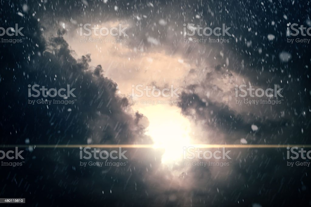 Dramatic Cloudy Sky Background stock photo