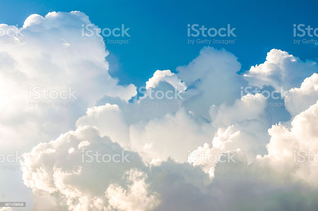 Dramatic cloudy sky stock photo