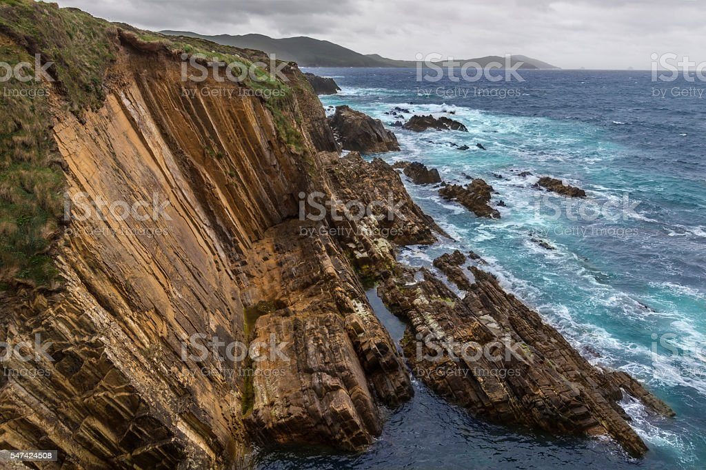 Dramatic coastline - Beara Peninsula - Ireland stock photo
