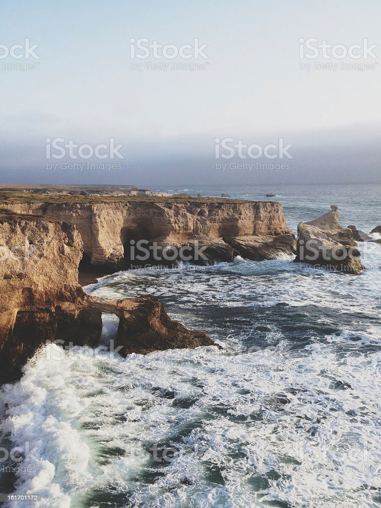 Dramatic Coastline stock photo