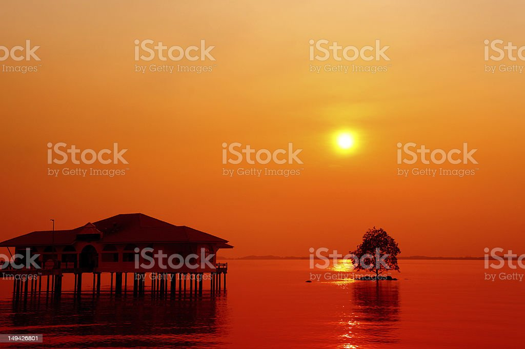 dramatic color seascape royalty-free stock photo