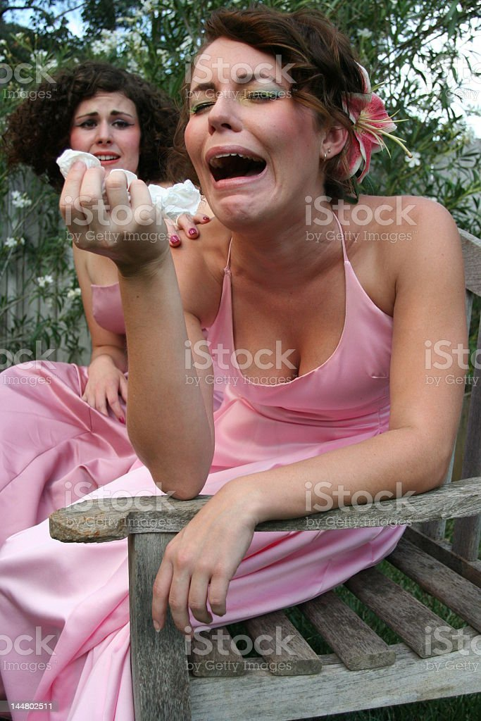 Dramatic Crying royalty-free stock photo