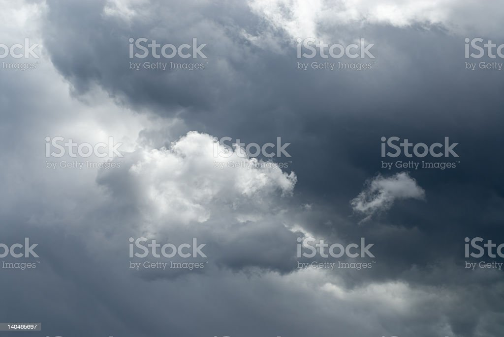 Dramatic dark sky with a cloud royalty-free stock photo