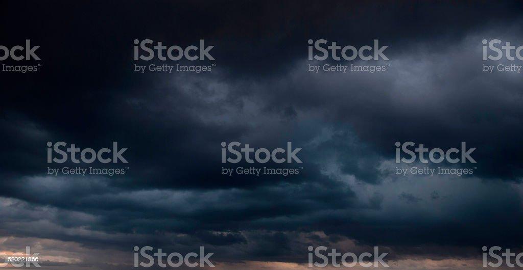 Dramatic Dark Stormy Sky stock photo