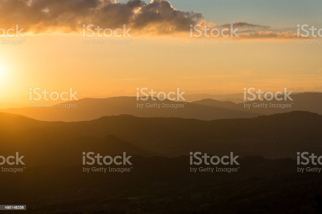 Dramatic evening sky with space for text stock photo