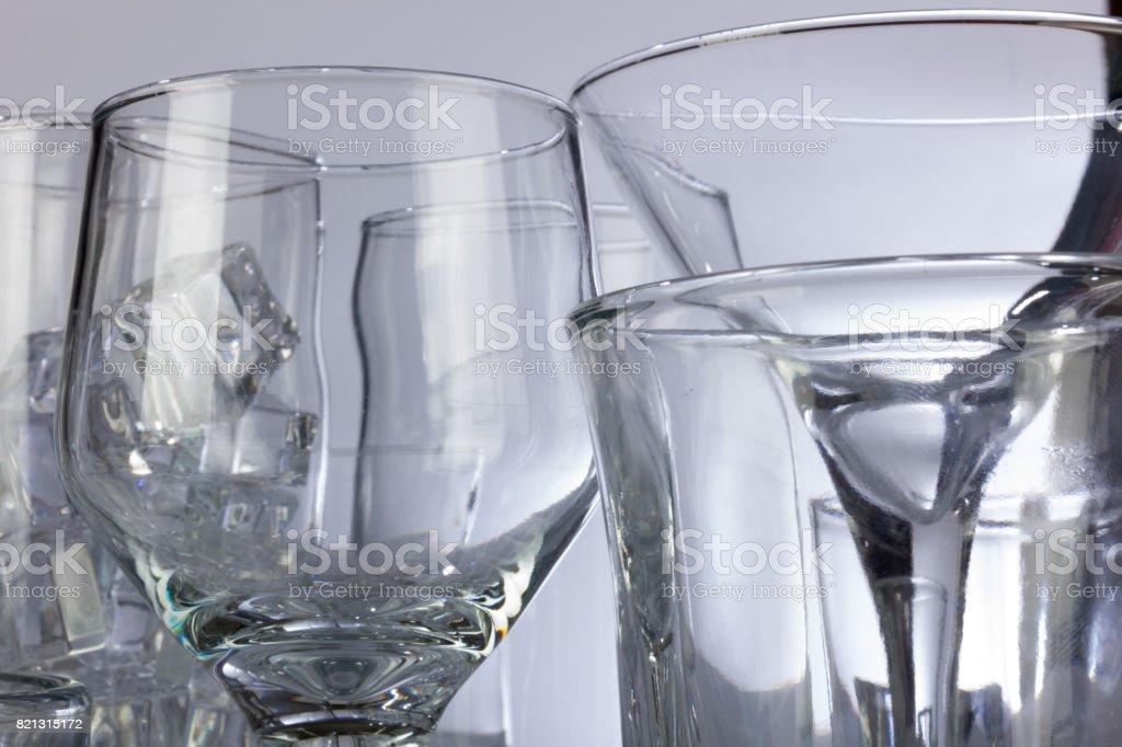 Dramatic Glassware Closeup stock photo
