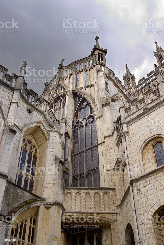 Dramatic gothic building royalty-free stock photo