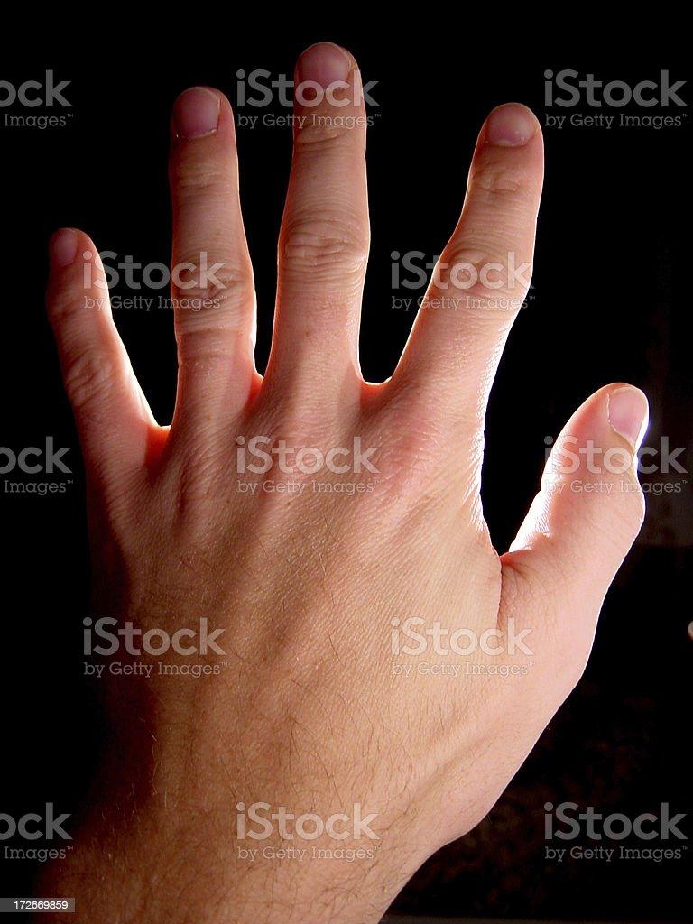 Dramatic Hand royalty-free stock photo
