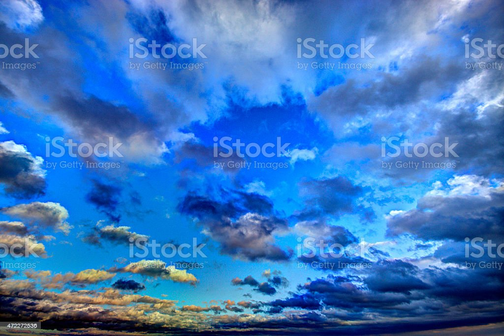Dramatic HDR sky stock photo