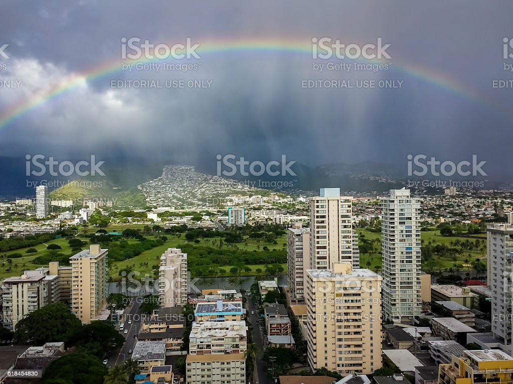 Dramatic hillside View stock photo