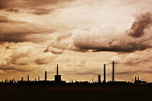 Dramatic industrial landscape