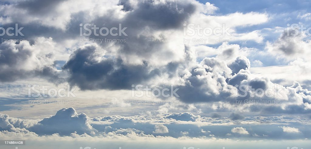 Dramatic interesting sky with variety of clouds royalty-free stock photo