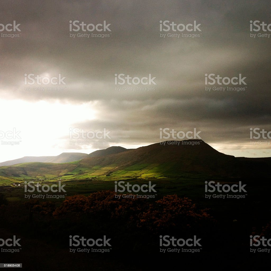 Dramatic landscape in ireland stock photo