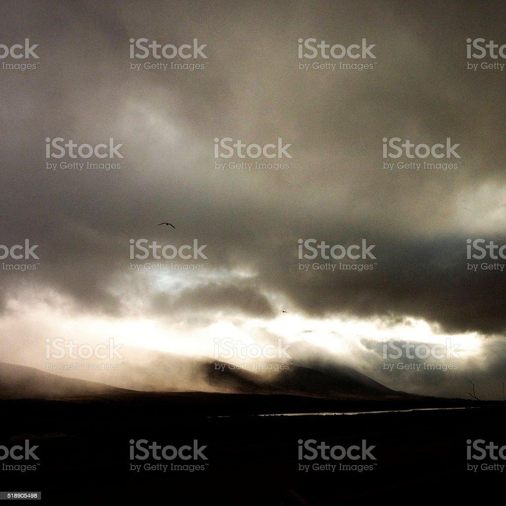 Dramatic landscape in ireland stock photo