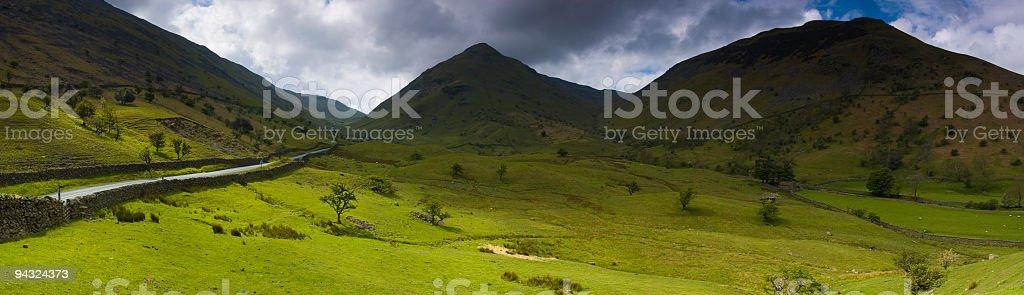 Dramatic landscape, mountain pass stock photo