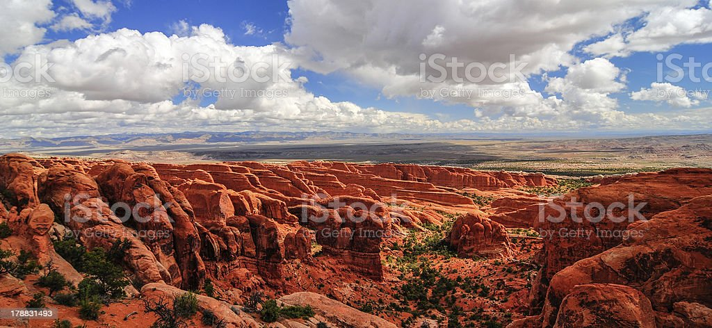 Dramatic Landscape of Arches National Park royalty-free stock photo