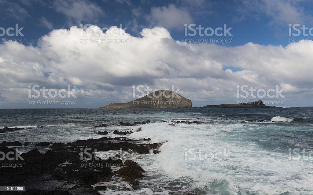 Dramatic landscape of Oahu, Hawaii stock photo