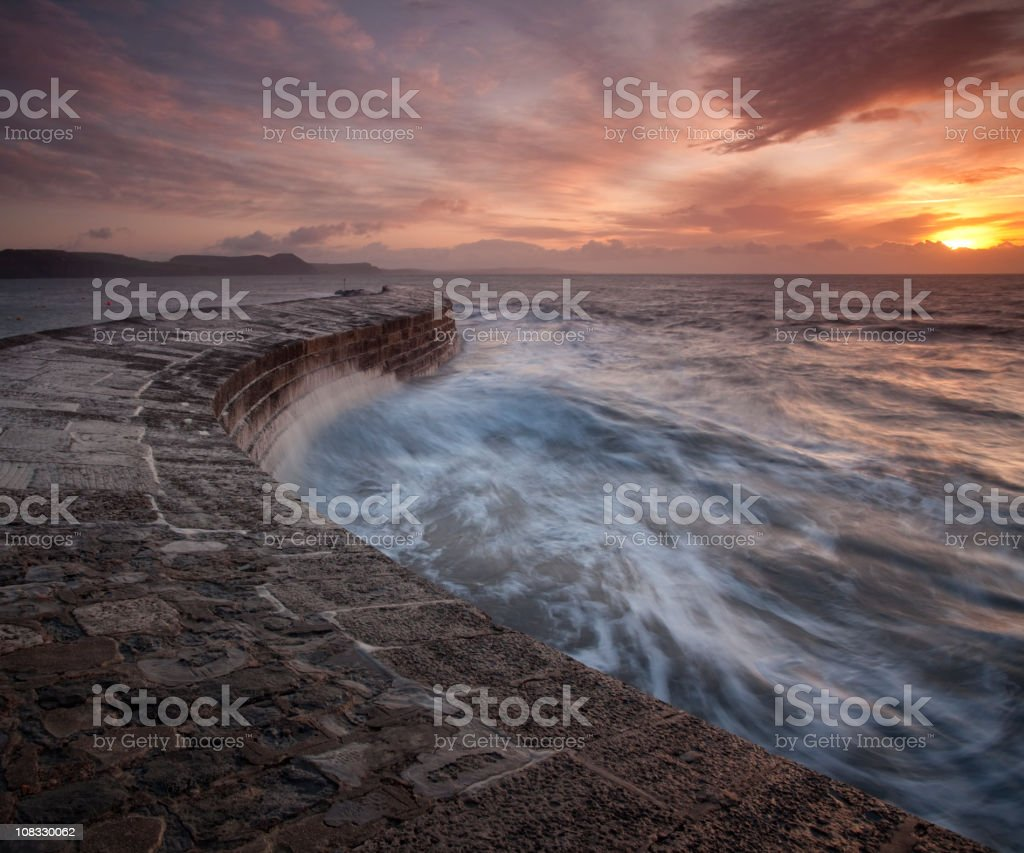 Dramatic light over the Cobb stock photo
