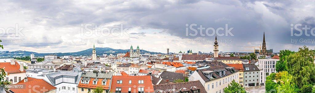 Dramatic Linz Panorama stock photo