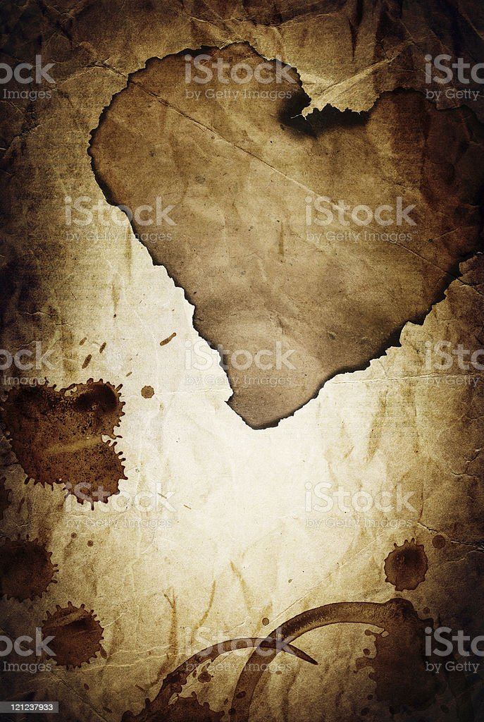 'Dramatic love' vintage abstract background. royalty-free stock photo