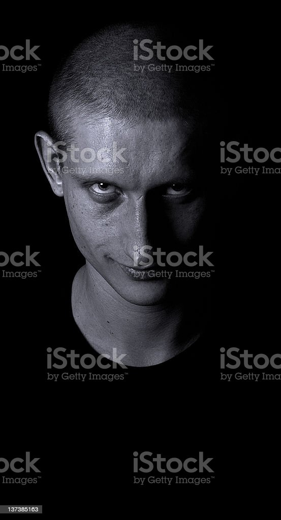 Dramatic Man's Portrait royalty-free stock photo
