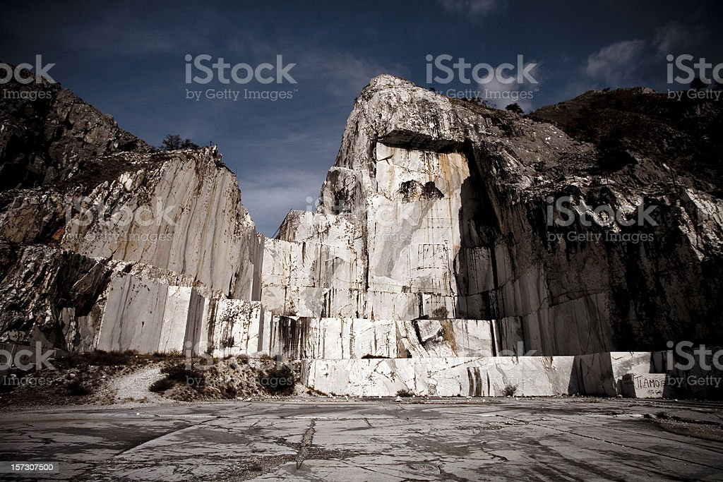 Dramatic Marble Quarry stock photo